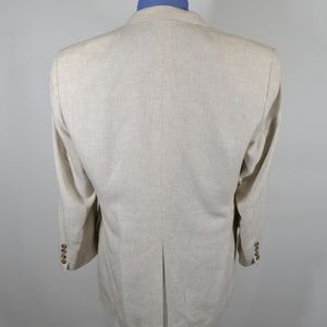 Haggar Suits & Blazers - Haggar 42L Sport Coat Blazer Suit Jacket Cream Pol